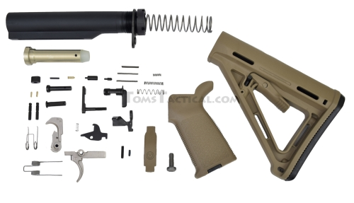 Toms Tactical AR-15 Magpul MOE Lower Build Kit - FDE