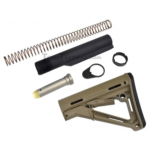 Anderson Manufacturing Mil-Spec Buffer Tube Assembly with Magpul CTR Stock - FDE