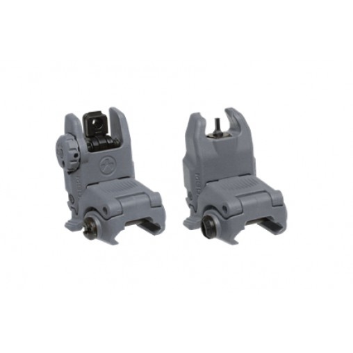 Magpul MBUS Gen II Front & Rear Sight Set - Stealth Grey