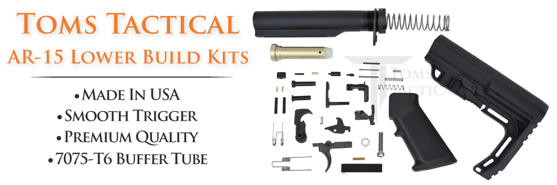 Toms Tactical Ar-15 Lower Build Kits Made In USA