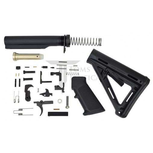 Toms Tactical AR-15 Lower Build Kit MOE Stock - Black