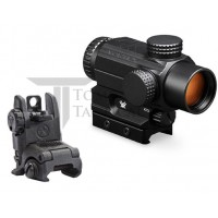 Vortex Spitfire AR Prism Scope Green / Red with Mount SPR-200 + Magpul MBUS Gen 2 Rear Sight
