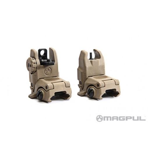 Magpul MBUS Gen II Front & Rear Sight Set - FDE