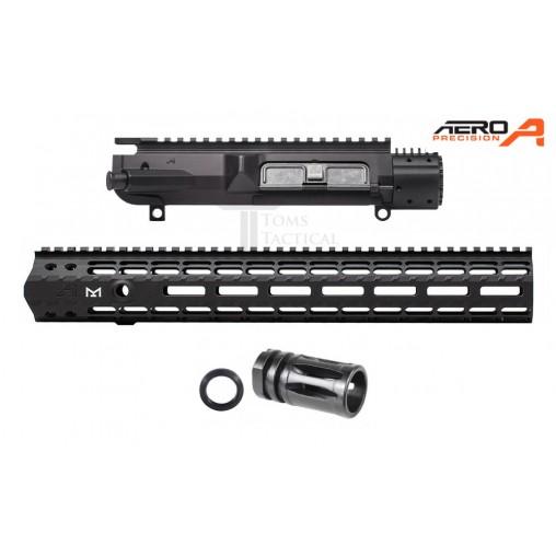 """Aero Precision M5E1 308 Upper Receiver + 15"""" M-Lok Rail - Gen 2 + Flash Hider"""