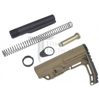 AR15 Mil-Spec Buffer Tube Kit + Mission First Tactical MFT Stock - SDE