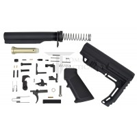 Toms Tactical AR-15 Lower Parts Build Kit MFT Minimalist Stock - Black