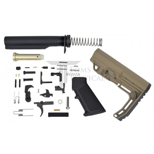 Toms Tactical AR-15 Lower Build Kit MFT Minimalist Stock - SDE