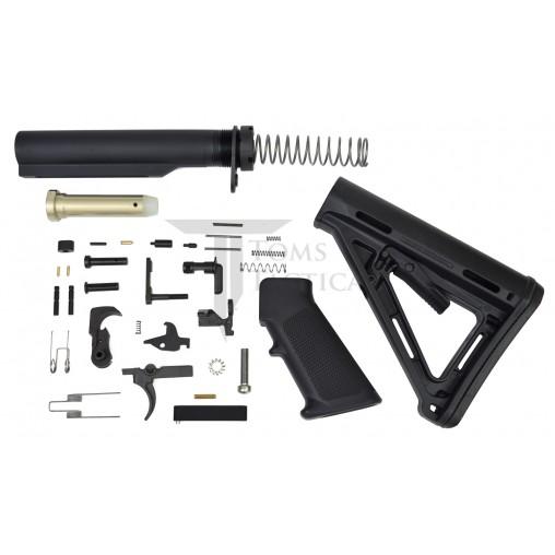 Toms Tactical AR-15 Lower Build Kit MOE Stock - Black